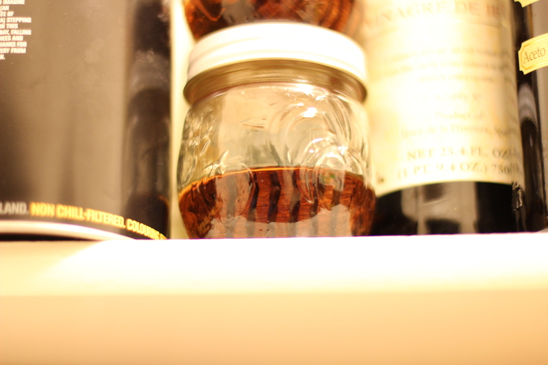Oak spiral and PC8 Scotch soaking in the closet.